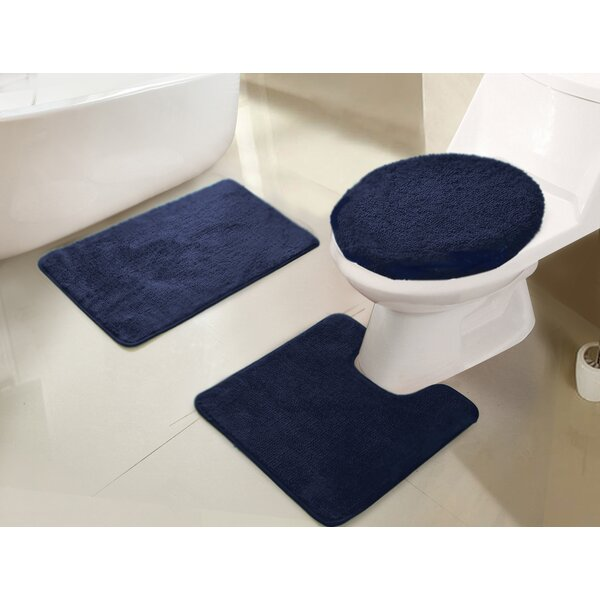 Gidney 3 Piece Bath Rug Set by Winston Porter