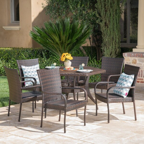 Outdoor 7 Piece Dining Set by Highland Dunes
