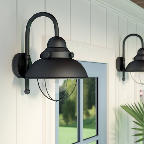Salvaggio 1-Light 100W Outdoor Barn Light by Beachcrest Home
