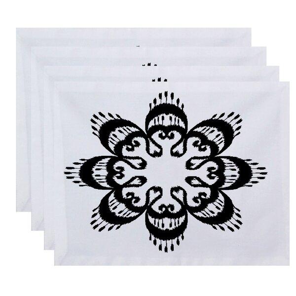Meetinghouse Ikat Mandala Geometric Print Placemat (Set of 4) by Bungalow Rose