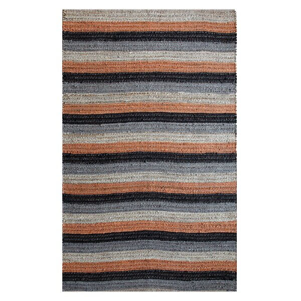 Hand-Woven Black/Rust Area Rug by Affinity Linens
