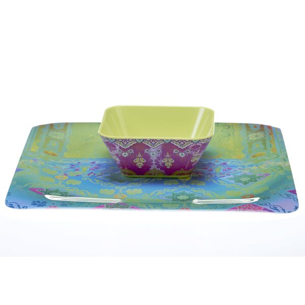 Duchess Melamine Chip and Dip Platter by Tracy Porter