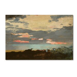 'Sunset, Saco Bay' by Winslow Homer Print on Wrapped Canvas by Trademark Fine Art