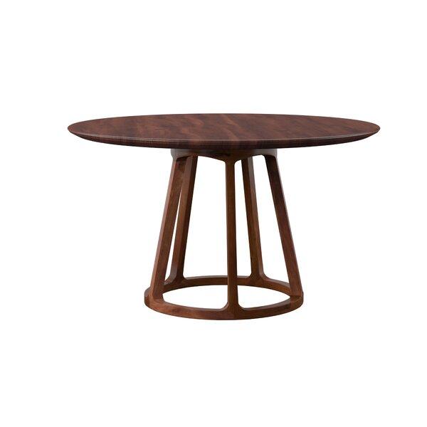 Liddle Walnut Solid Wood Dining Table by Mercury Row Mercury Row