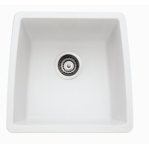 Performa 17.5 L x 17 W Silgranit II Single Bowl Undermount Bar Sink by Blanco