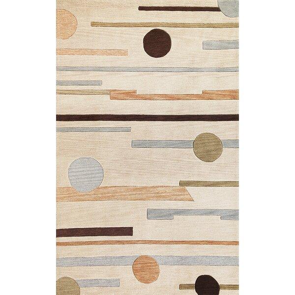 Correa Beige Horizons Rug by Ebern Designs