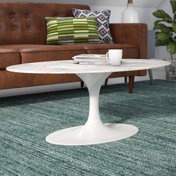 Larkson Pedestal Coffee Table By Langley Street™
