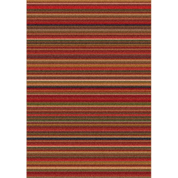 Modern Times Canyon Dark Red Area Rug by Milliken