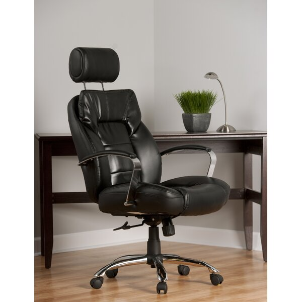 Louis High-Back Leather Executive Chair by Comfort Products