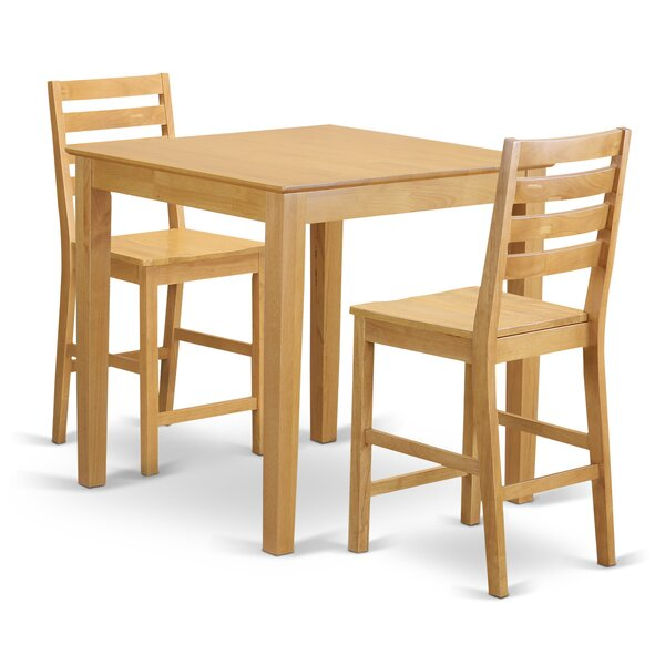 3 Piece Counter Height Pub Table Set By Wooden Importers Wonderful