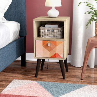 Duffy 1 Drawer Nightstand Mercury Row