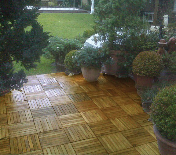 Plantation Acacia 11 x 11 Interlocking Deck Tiles