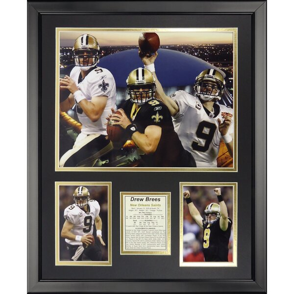 NFL New Orleans Saints - Drew Brees Collage Framed Memorabili by Legends Never Die