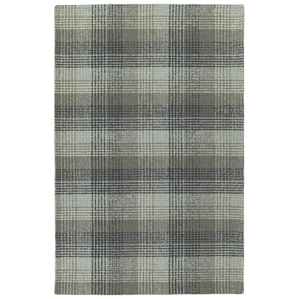 Tahsha Hand Tufted Wool Grey Area Rug by Gracie Oaks