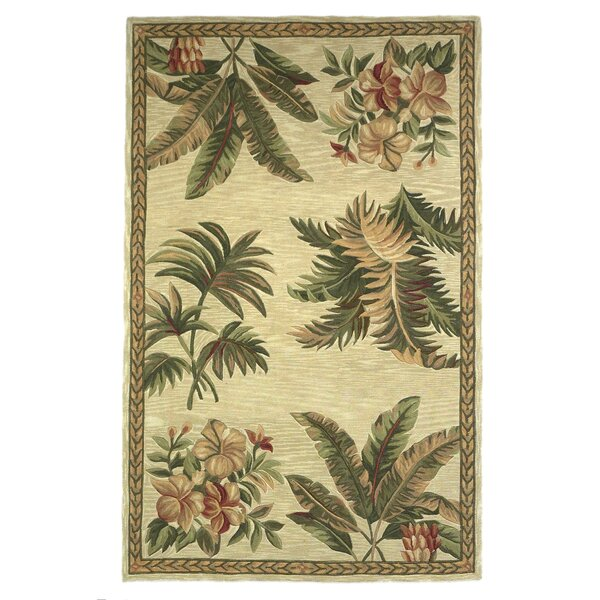 Murray Ivory Tropical Oasis Area Rug by Bay Isle Home