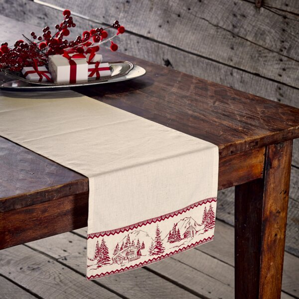 Hellman Cabin Christmas Runner by Loon Peak