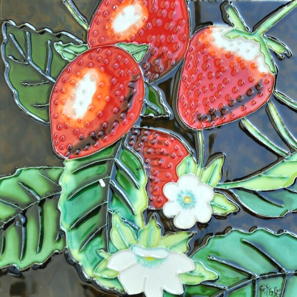Strawberry Tile Wall Decor by Continental Art Center