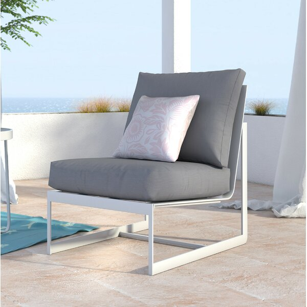 Mirabelle Armless Patio Chair with Cushion by Elle Decor Elle Decor