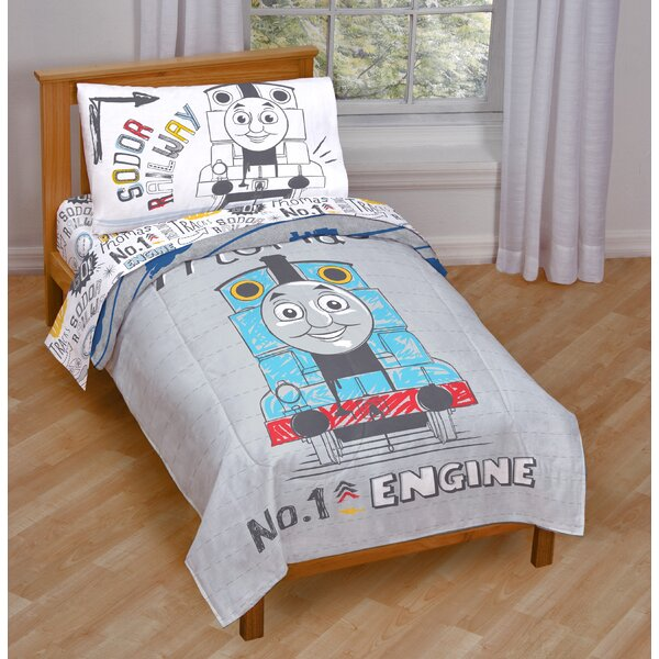 Doodle Days 4 Piece Toddler Bedding Set by Thomas and Friends