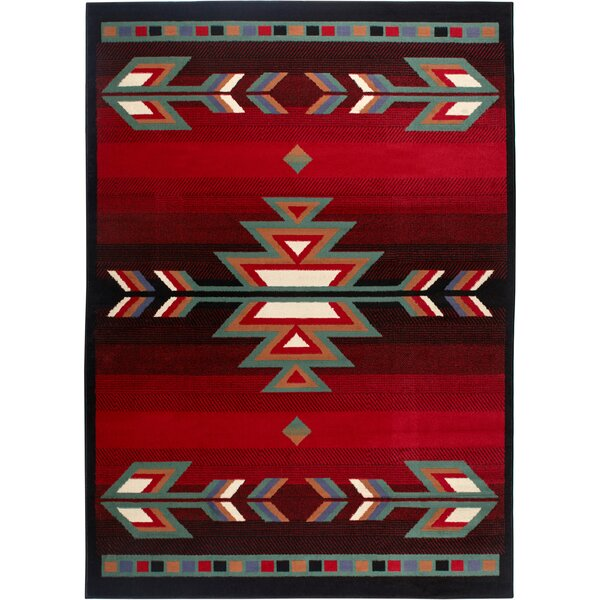 Hilander Black Area Rug by Loon Peak