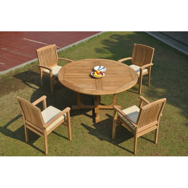 Daniela 5 Piece Teak Dining Set by Rosecliff Heights