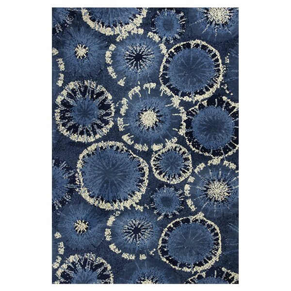 Cormac Starburst Blue Area Rug by Ebern Designs