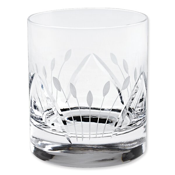Brigitta Double Old Fashion Glass 10 oz. Crystal by Lorren Home Trends