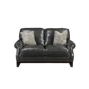 Cioffi Genuine Leather Loveseat by Red Barrel Studio