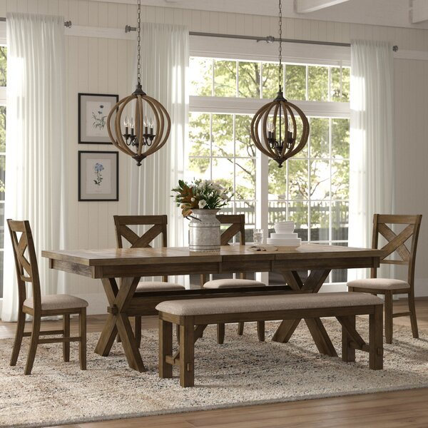 Poe 6 Piece Extendable Dining Set by Gracie Oaks