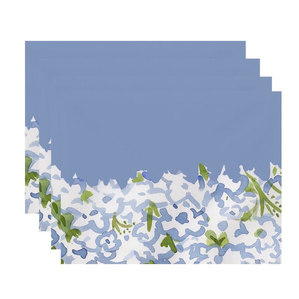 Gardenia Garden Floral Print 18 Placemat (Set of 4) by e by design