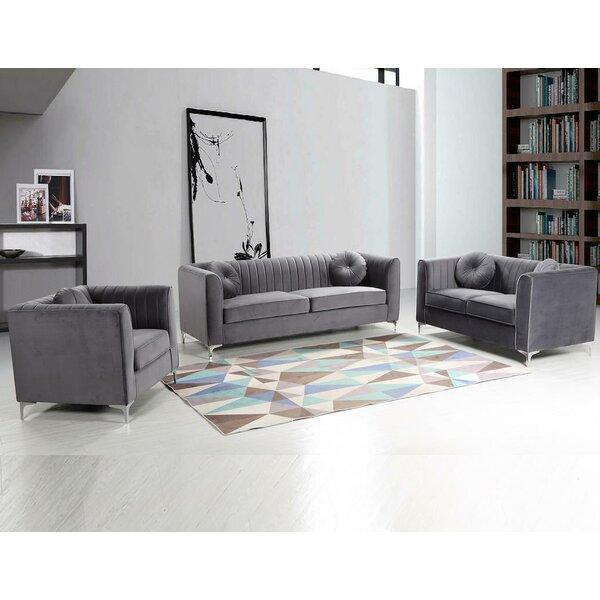 Elmore 3 Piece Living Room Set by Mercer41 Mercer41