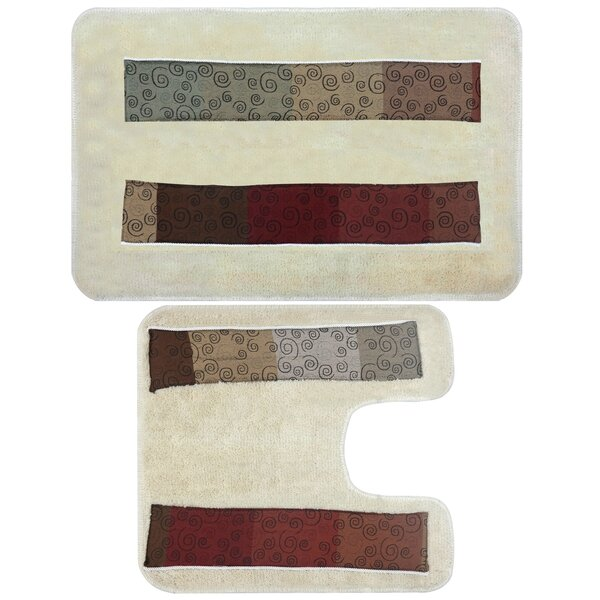 Miramar 2 Piece Banded Bath Rug Set by Sweet Home Collection