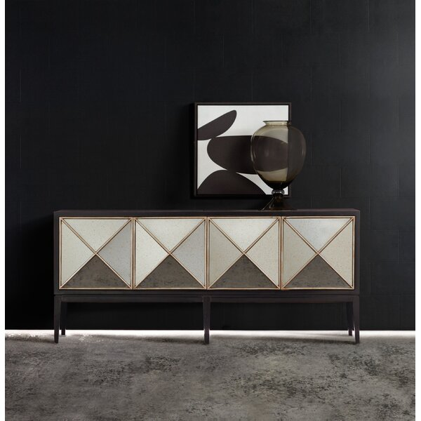 Melange Jova 4-Door Credenza by Hooker Furniture