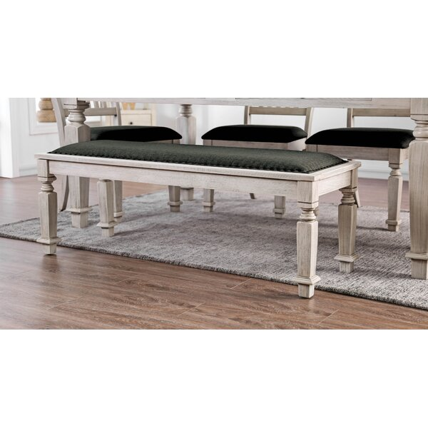 Tomas Wood Upholstered Bench by Ophelia & Co. Ophelia & Co.
