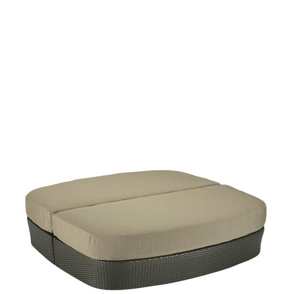 Mia Outdoor Ottoman with Cushion by Tropitone