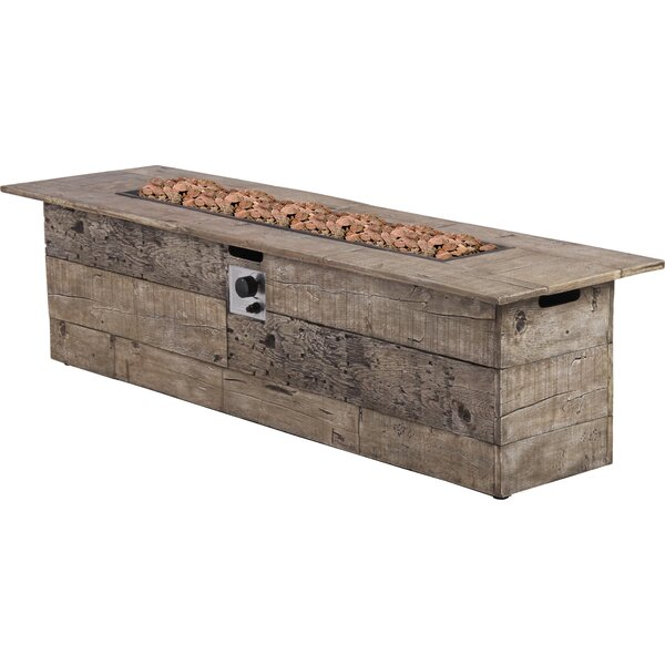 Galleon Wood Propane Gas Fire Pit Table by Bond Manufacturing