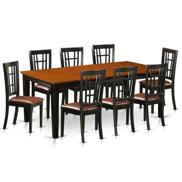 Pilger 9 Piece Extendable Dining Set by August Grove