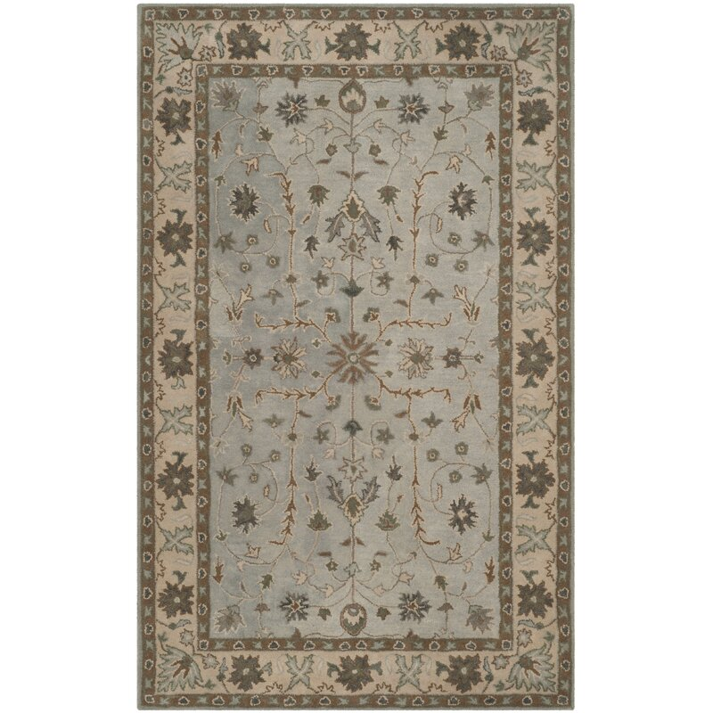 Darby Home Co Tressler Hand Tufted Wool Green Beige Area Rug Wayfair