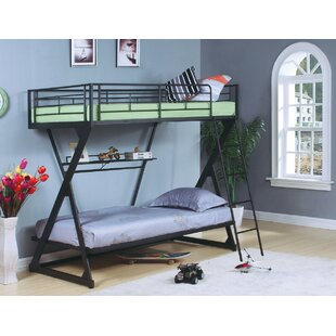 Price Check Haverstraw Metal Twin over Twin Bunk Bed with Bookcase ByHarriet Bee