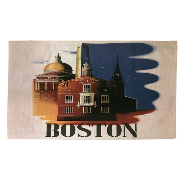 Boston Architecture Blue/Brown Area Rug by Manual Woodworkers & Weavers