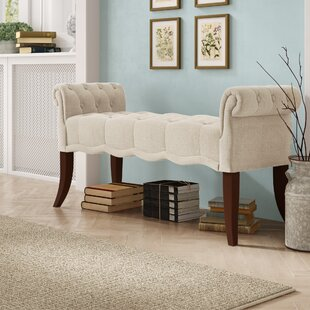 Best Reviews Campbell Roll Arm Upholstered Bench By Ophelia & Co.
