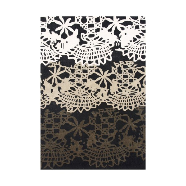 Linn Hand-Tufted Black/White Area Rug by The Conestoga Trading Co.