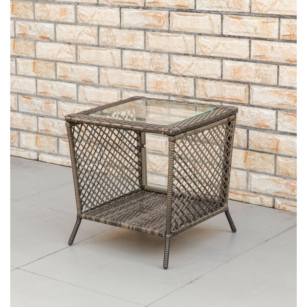 Richert Wicker/Rattan Side Table by Breakwater Bay