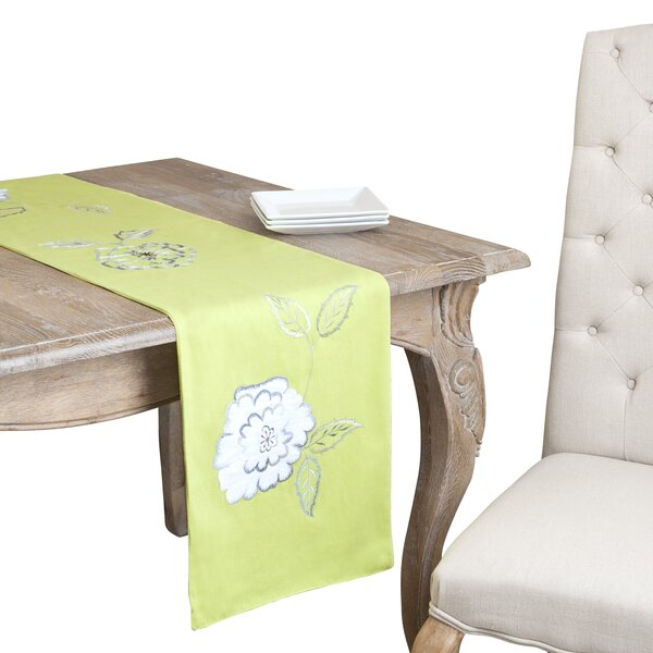 Jean Embroidered Design Runner by Lark Manor