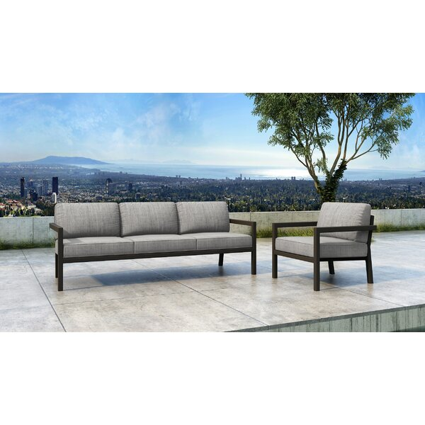 Iliana 2 Piece Sofa Seating Group with Sunbrella Cushions by 17 Stories