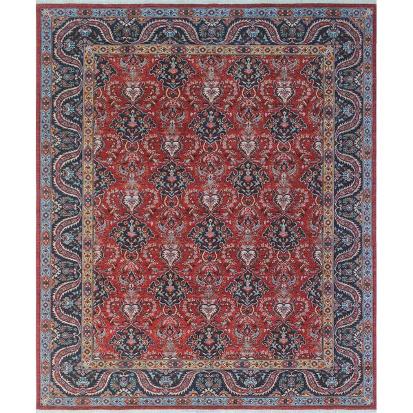 One-of-a-Kind Woodmoor Trina Hand-Knotted Wool Red/Rust Area Rug by Loon Peak