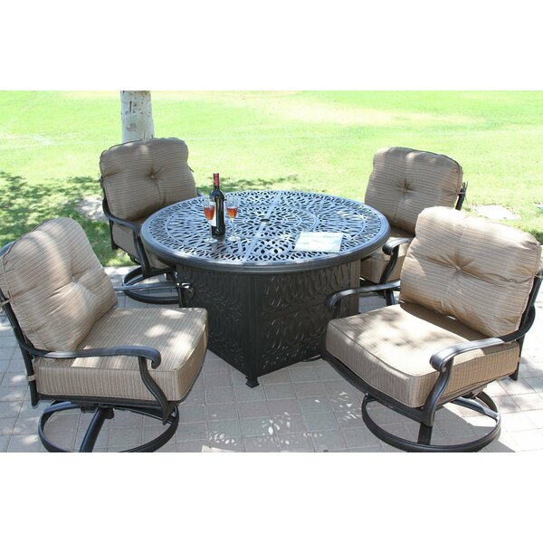 Kristy 5 Piece Conversation Set with Cushions by Darby Home Co