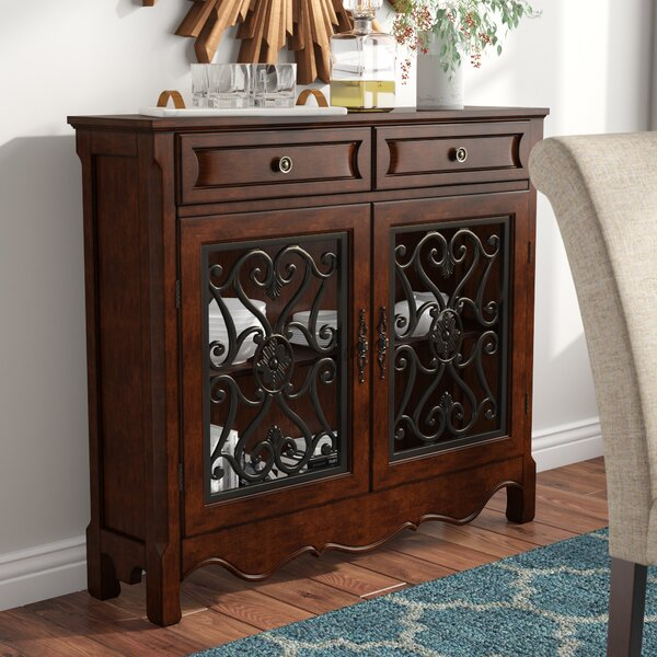 Senath 2 Door and 2 Drawer Cabinet by Fleur De Lis Living
