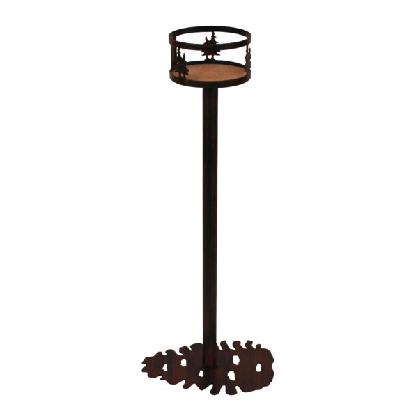 Vanessa Iron Double Tree Band Pine Cone Base Pub Table by Millwood Pines