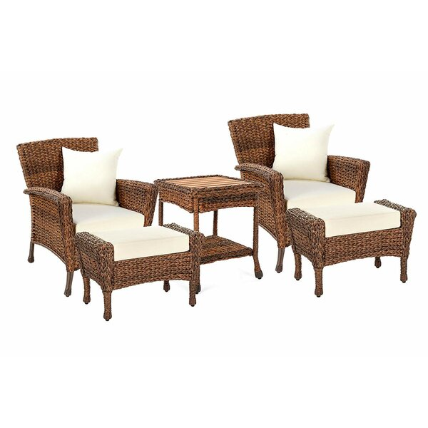 Ruvalcaba Garden Patio 5 Piece Seating Group with Cushions by August Grove